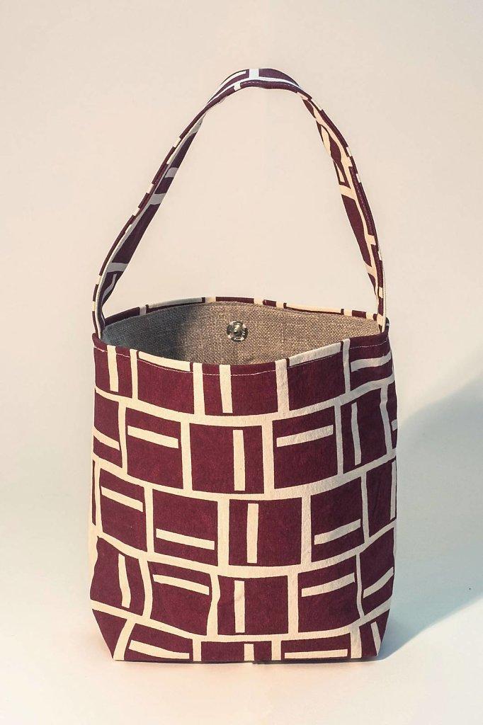 Rutor väska - Vinröd
